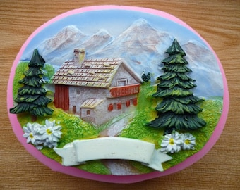 3D Scenery Silicone Mold Fondant Cake Mold Chocolate Mold Soap Candle Mold Lollipop Cabochon Clay Mold