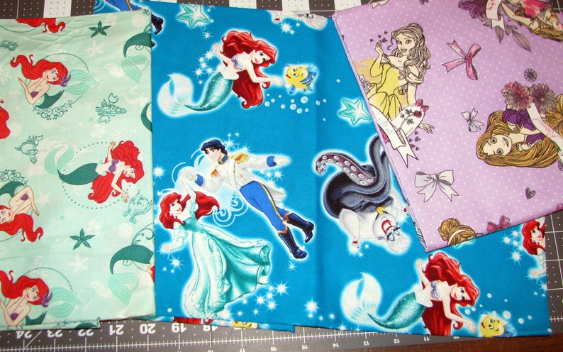 Disney Princess fabric REMNANT BUNDLE  Cinderella Belle image 0