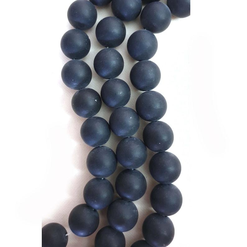 12mm Onyx Matt Black Onyx Round Beads Matt Black Onyx Round Beads Gorgeous 6mm 1 x strand 10mm semi-precious beads