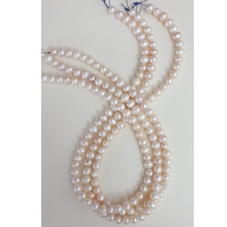 Centre Drill x63 pearls Stunning 7-8mm Cream Fresh Water Pearls RoundPotato Shape Gorgeous Pearls