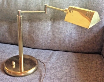 Lite Source Pharmacy Brass Table Desk Lamp Adjustable Shade