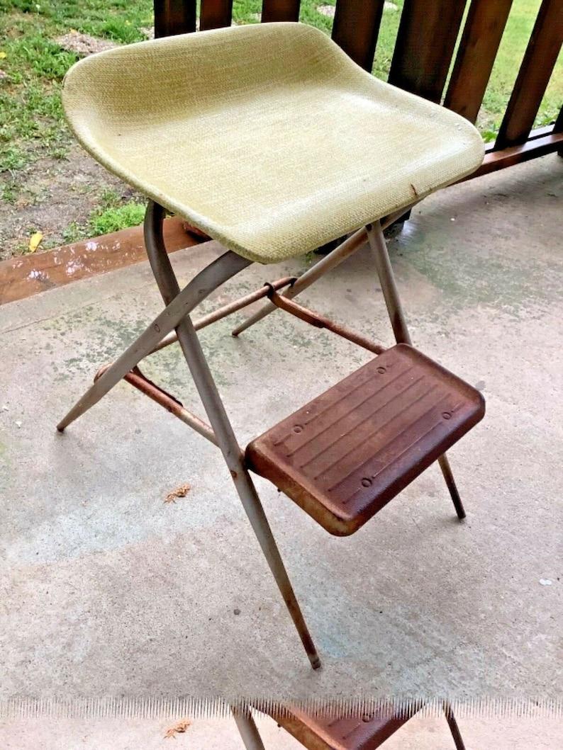 Cool Vintage Samsonite Step Stool Metal Fiberglass Folding Rustic Retro Mid Century Uwap Interior Chair Design Uwaporg