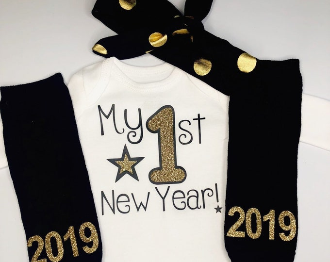 9e166235bd431 Baby girl 1st New years outfit - my first new years outfit - 2019 New years