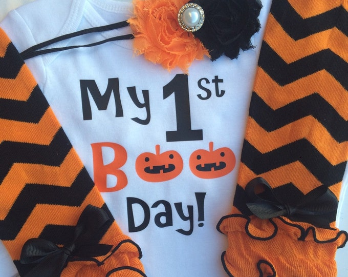 Baby Girl 1st Halloween Outfit -BOO Day