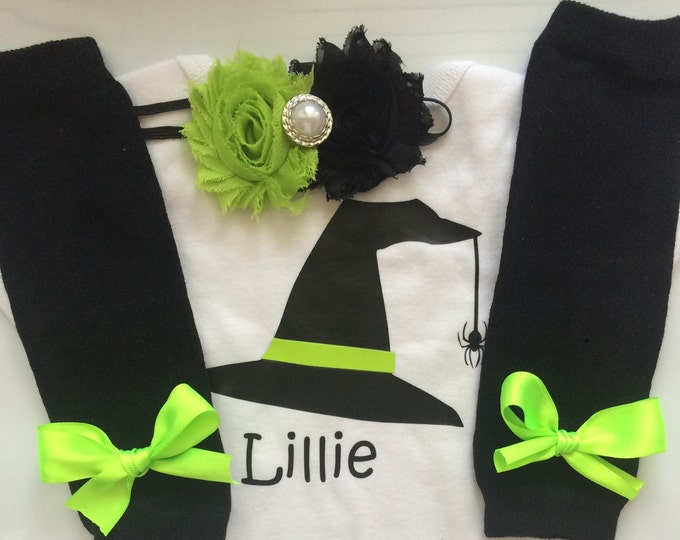 Baby Girl Halloween outfit - Witch costum- personalized