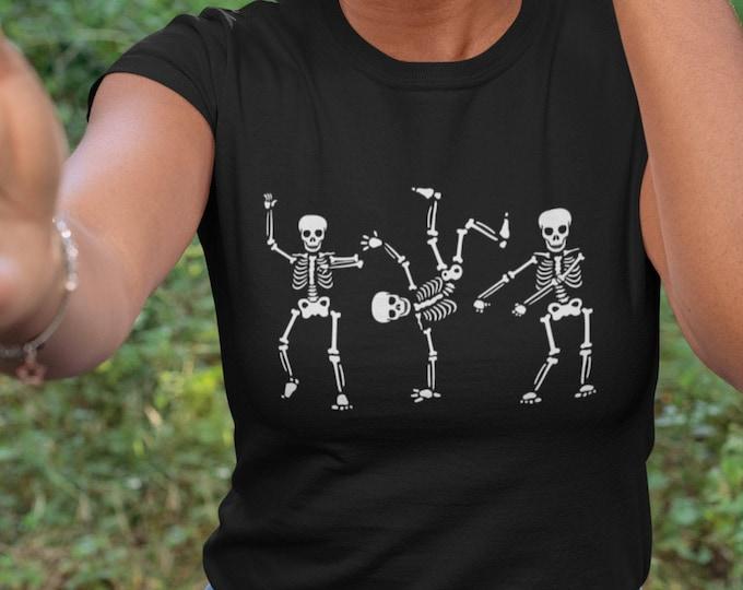 Women's Halloween Shirt- Funny Halloween Shirt- Skeleton Dancing Halloween Shirt- Funny Skeleton Shirt- Kids Halloween shirt