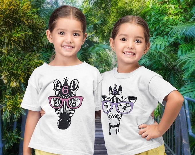 Zoo Birthday shirt- Jungle Birthday- Get Wild Party- Safari Birthday shirt- Zoo party birthday shirt- CUSTOM zoo party shirt- Choose Animal