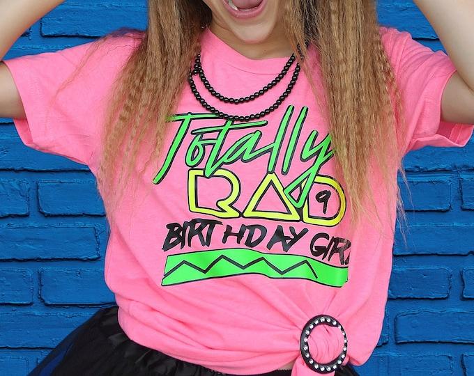 Retro Kid's Birthday shirt- Kid's 80s theme party- Girl's 80s birthday shirt- 90s birthday shirt- Vintage Kid's Birthday shirt