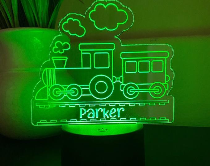 Personalized Kid's Night Light - LED Night Light- CUSTOM night light - color changing night light - kids room decor -boy room decor