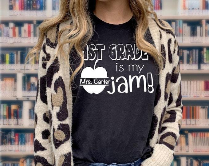 Back to school shirt- Teacher school shirt - 1st day of school shirt - Kindergarten is my jam - CUSTOM