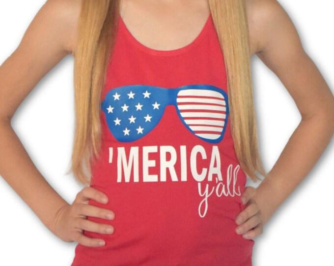 Girl's tank- 'Merica Y'all
