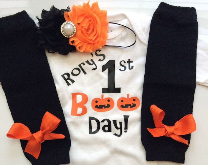 Baby Girl- My 1st Halloween- Personalized