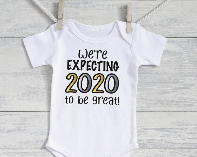 New Years Pregnancy Announcement Idea- Pregnancy Reveal - baby reveal - Personalized baby - Holiday  pregnancy reveal -Expecting 2020