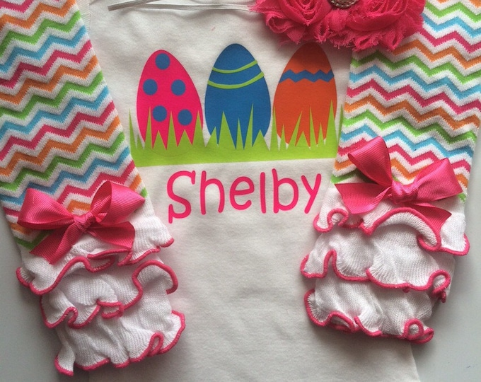 Baby Girl Easter Outfit- personalized outfit - baby girl spring outfit - newborn easter outfit - my first easter bodysuit- infant Easter
