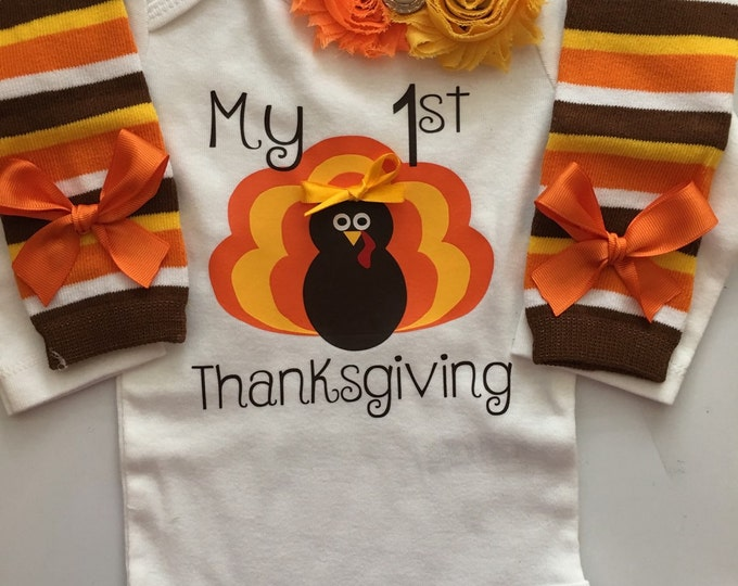 Baby girl My 1st Thanksgiving Outfit