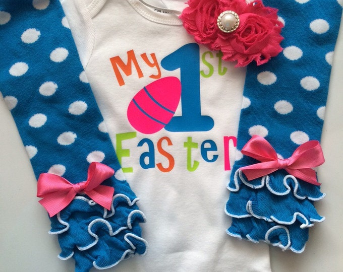 Baby Girl Easter Outfit- MY FIRST EASTER outfit - baby girl spring outfit - newborn easter outfit - my first easter bodysuit