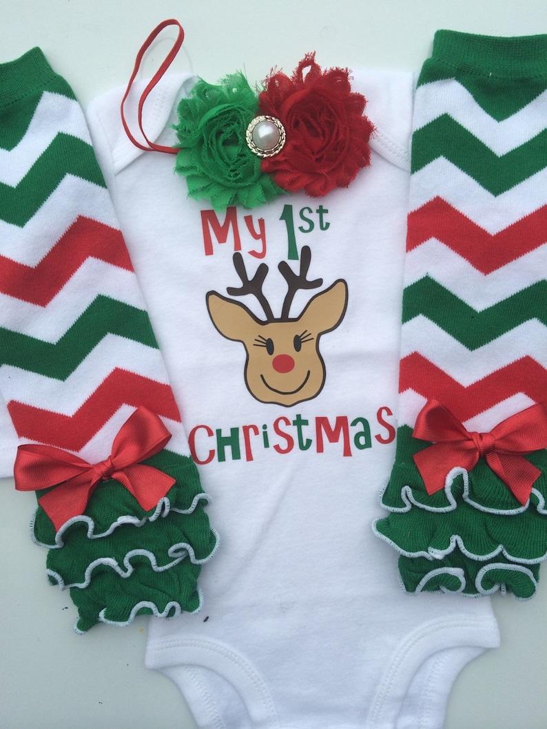 cde446514 Baby girl 1st Christmas outfit baby girl christmas photo | Etsy