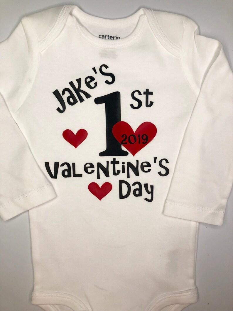 cb676ffb6 Baby Boy 1st Valentine's shirt boy valentines outfit | Etsy