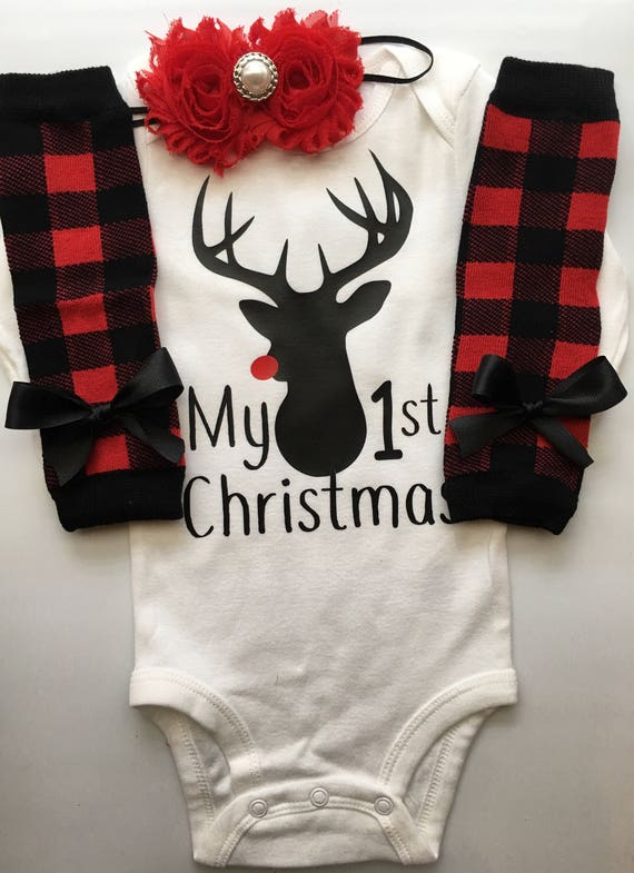 fe6ff3fdb Baby Girl Christmas outfit Newborn Christmas clothes baby | Etsy