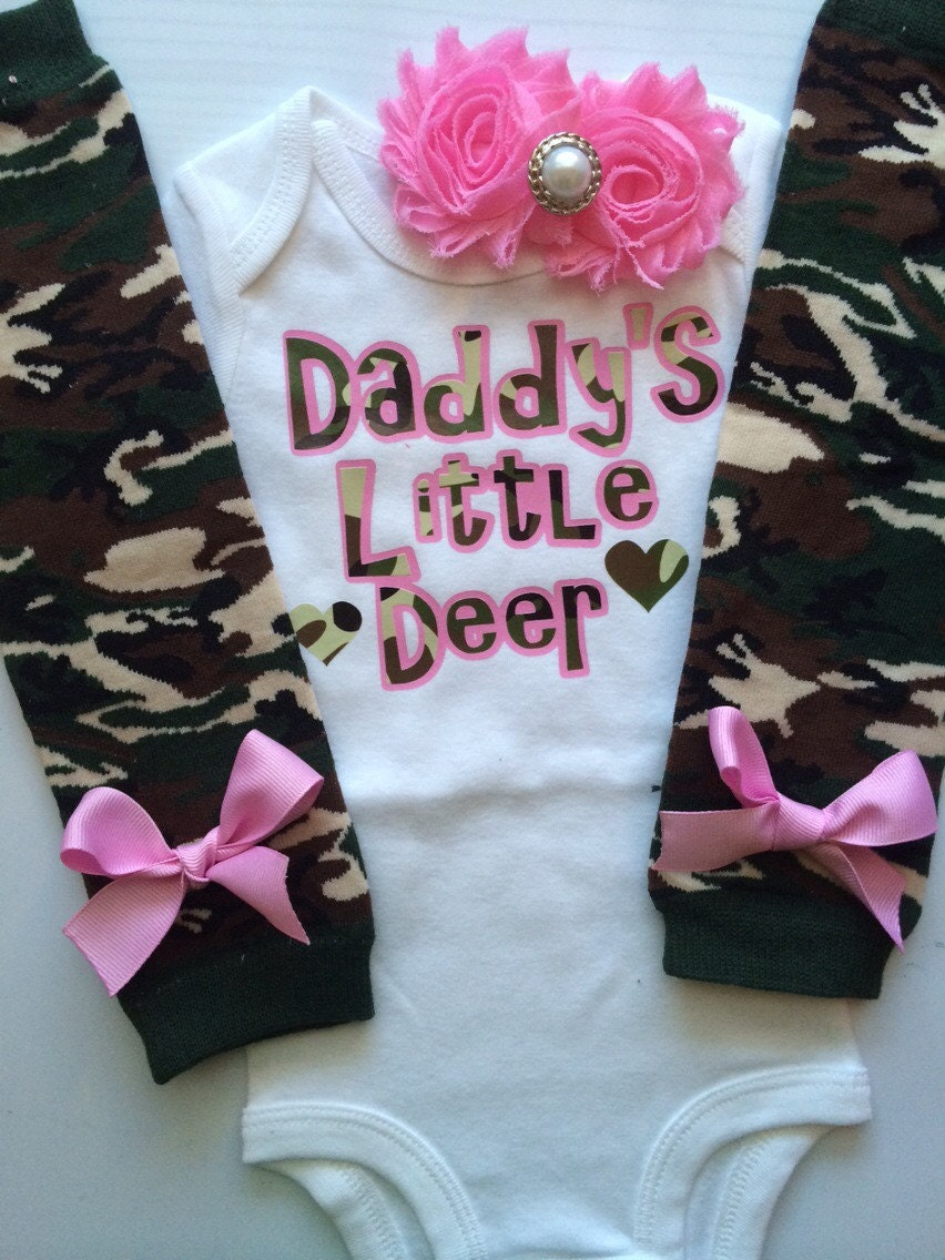 dbc795825 Baby Girl outfit - Fathers Day outfit - Hunting baby girl outfit - baby  girl Fathers Day outfit -