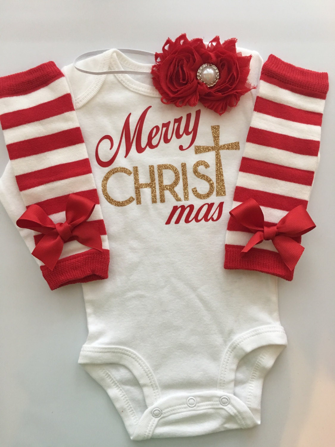 068726b09 ... 1st Christmas - baby girl church outfit - girl's Christmas outfit - 3  piece set. gallery photo ...