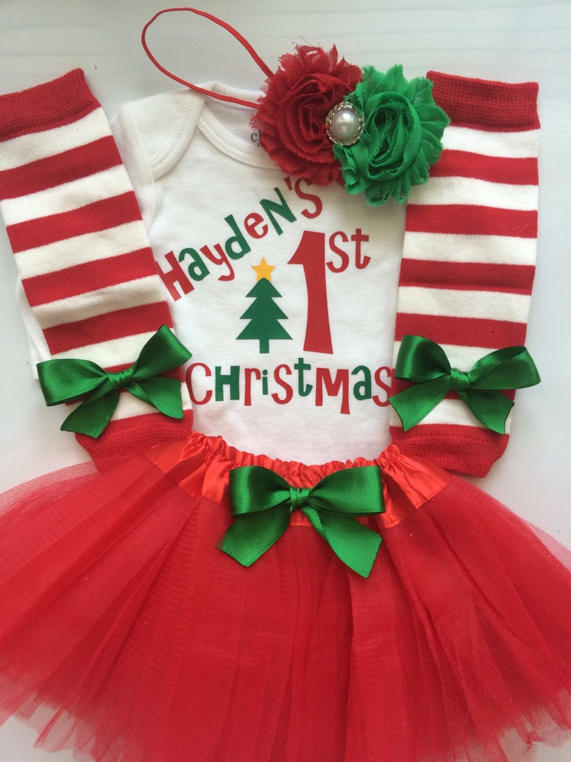 0e5627fd1 ... first Christmas Outfit- 4 piece newborn outfit. gallery photo ...