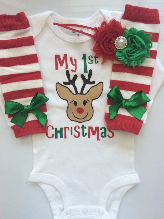 Baby Girl 1st Christmas outfit - Preemie Newborn Infant My first Christmas  Outfit- baby girl Christmas clothes- Christmas girls outfit - Baby Girl 1st Christmas Outfit Preemie Newborn Infant My Etsy