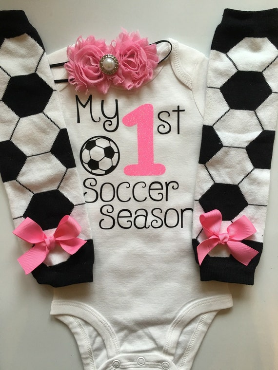 Baby Madchen Fussball Tag Outfit Mein 1 Fussball Saison Outfit Fussball Baby Outfit Personalisierte Baby Outfit Baby Madchen Foto Prop