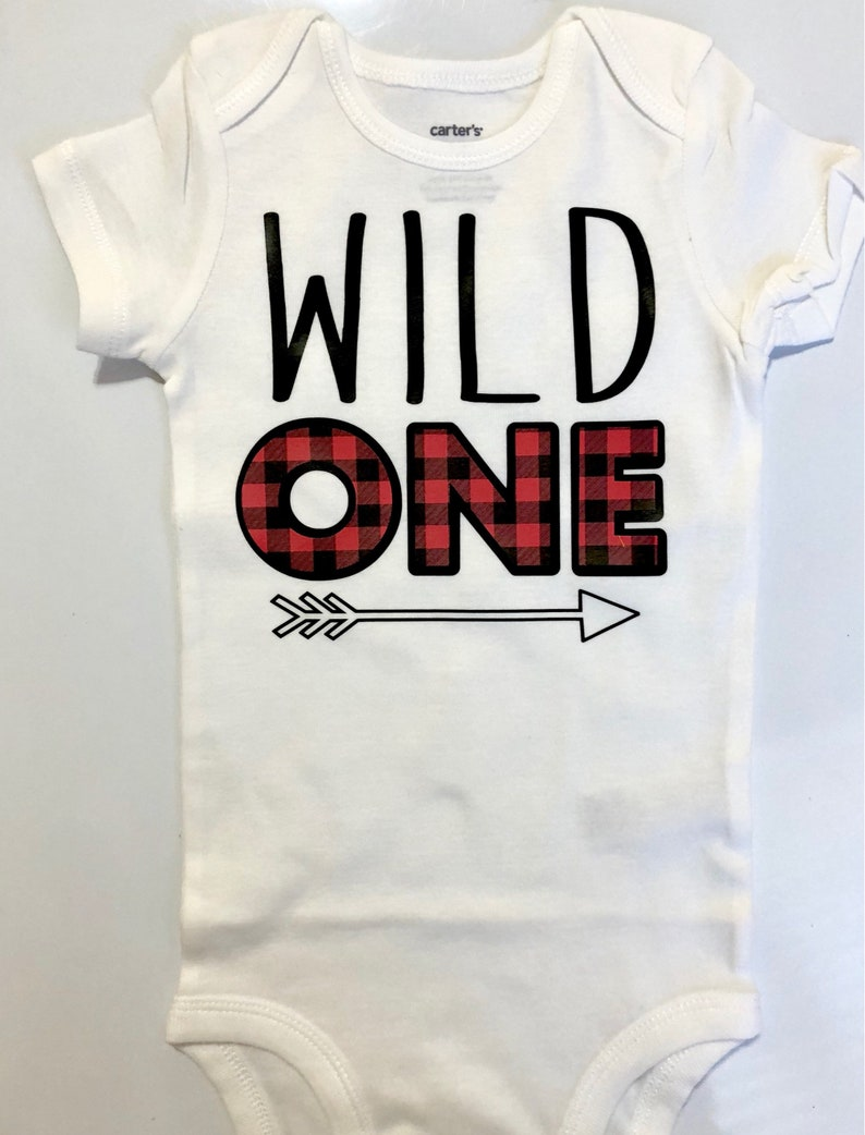 Wild One 1st Birthday Shirt Outfit Baby Boy