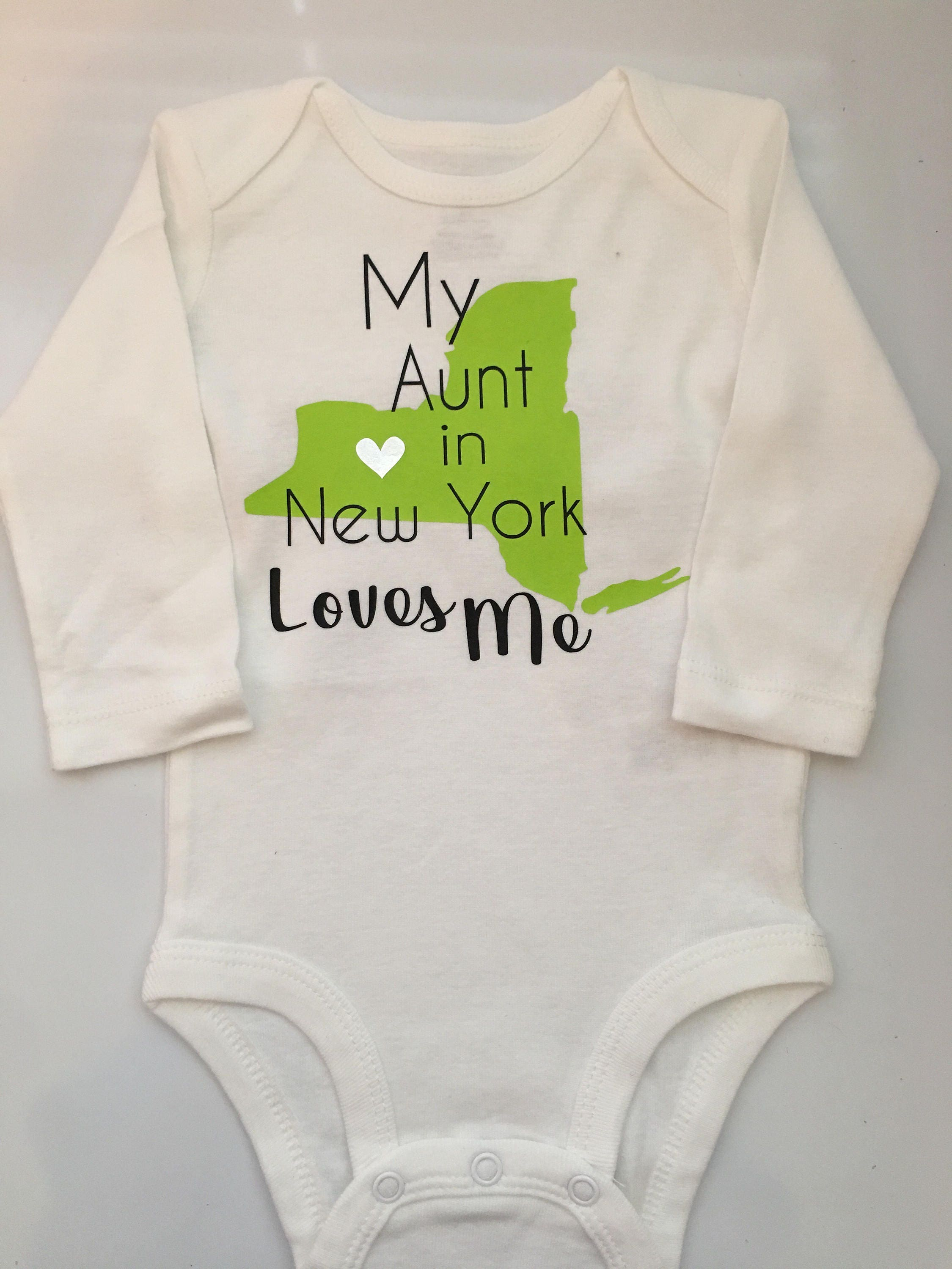 Baby girl baby boy new york personalized new york bodysuit custom baby gift gallery photo gallery photo negle Image collections