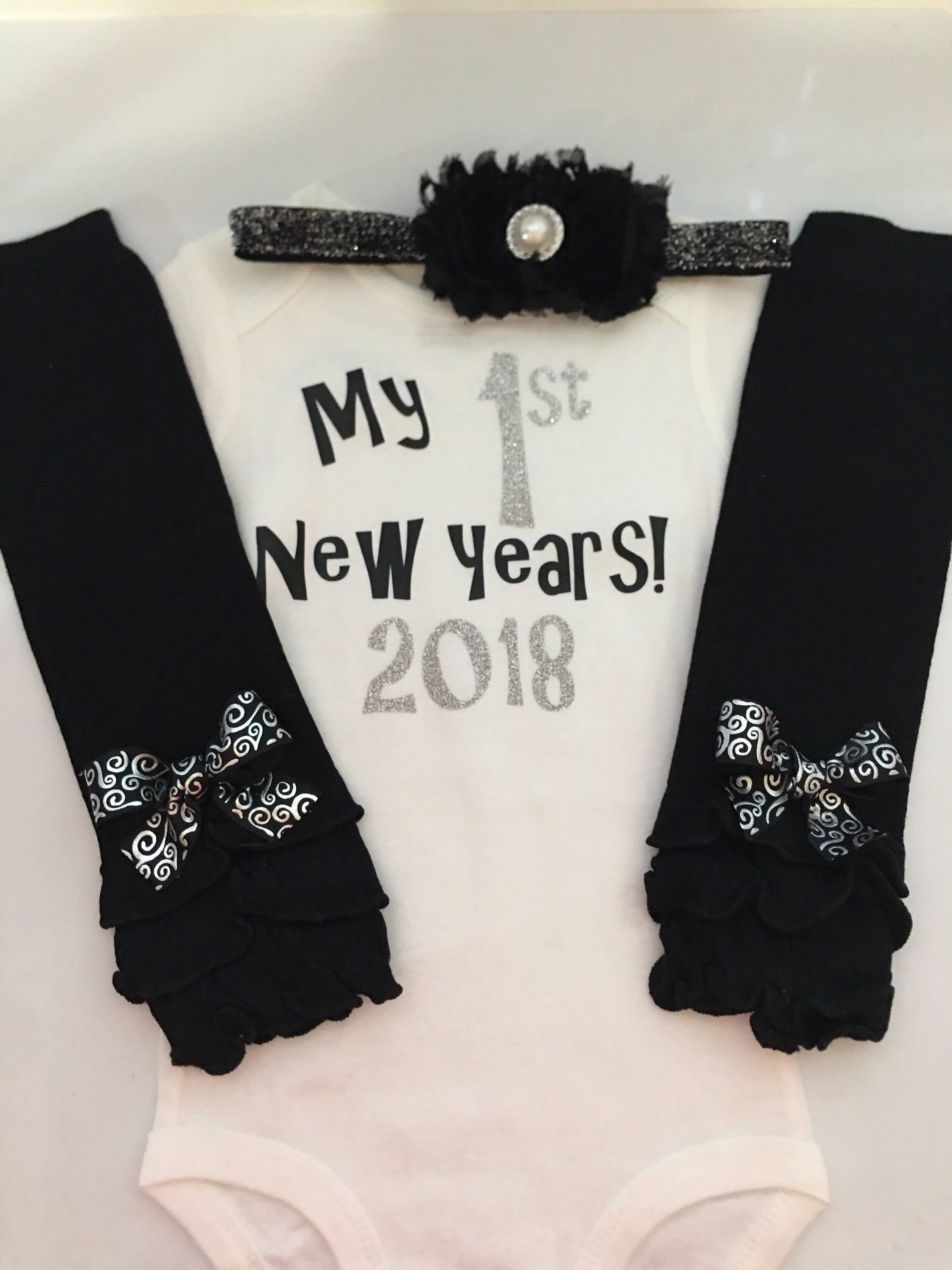 686ac089ef55 ... my first new years outfit - 2019 New years baby outfit - baby girl  photo prop. gallery photo ...