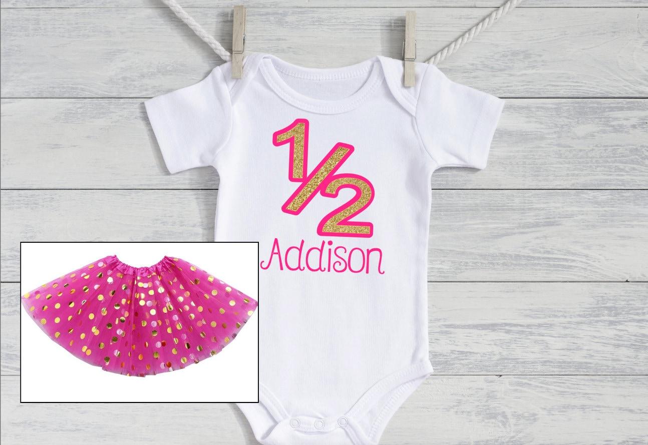 half birthday shirt tutu set Blush and silver half birthday outfit girl /'Emory/' 6 month birthday photo outfit girl blush pink silver tutu