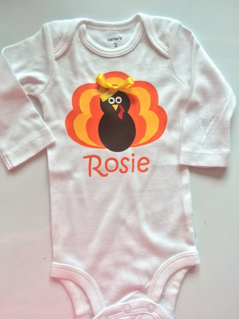 4a8bda993 BABY girl Thanksgiving outfit personalized baby turkey   Etsy