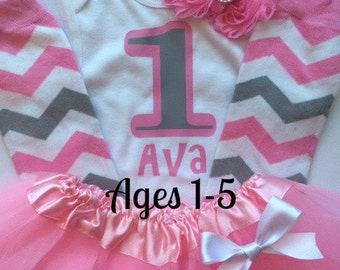 Toddler Girl Birthday Outfit- 2nd birthday birthday outfit - 3rd birthday outfit - 4th birthday outfit -5th birthday outfit- photo prop