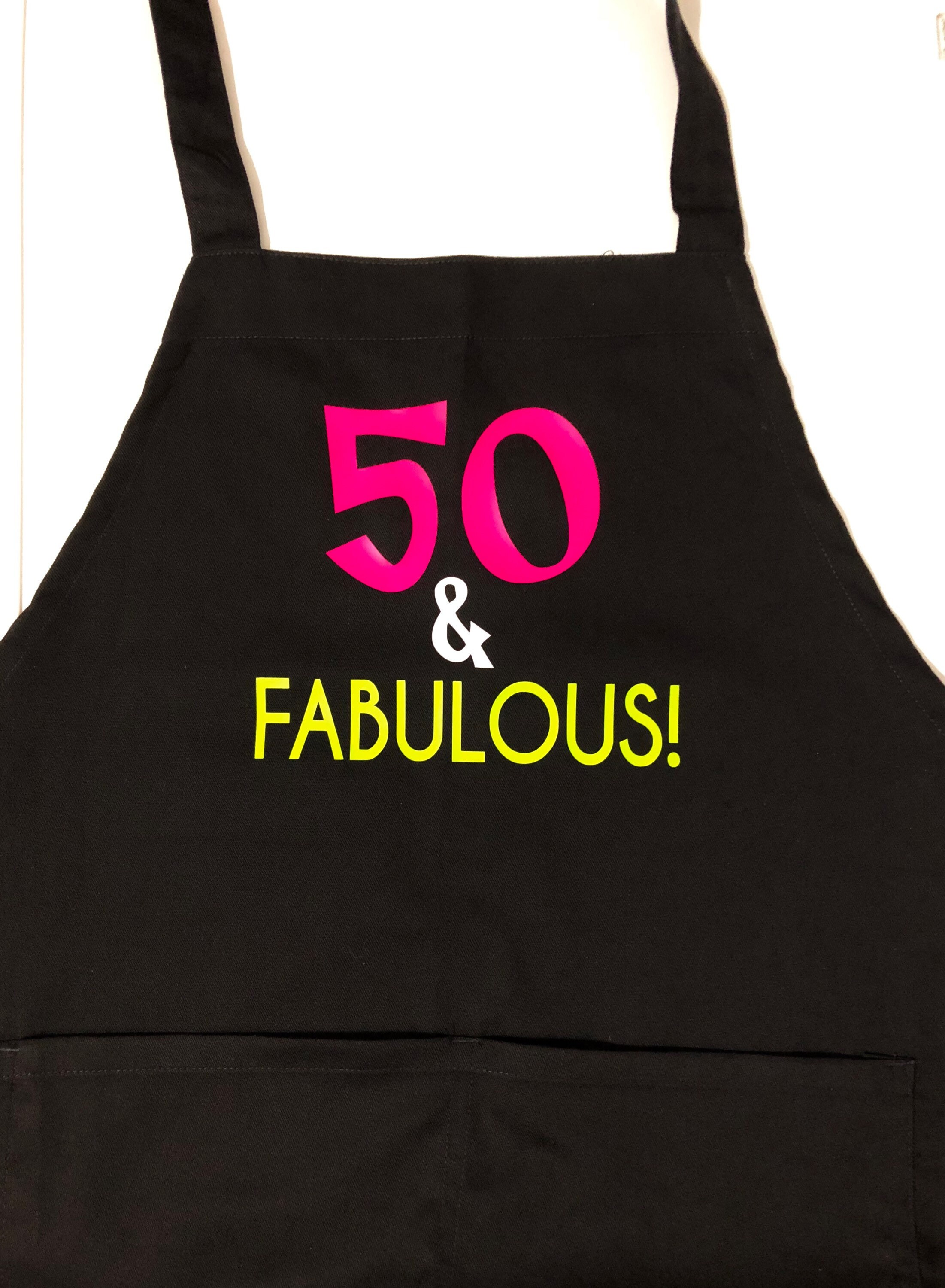 50th 40th Birthday Gift Womens 40 And Fabulous Apron