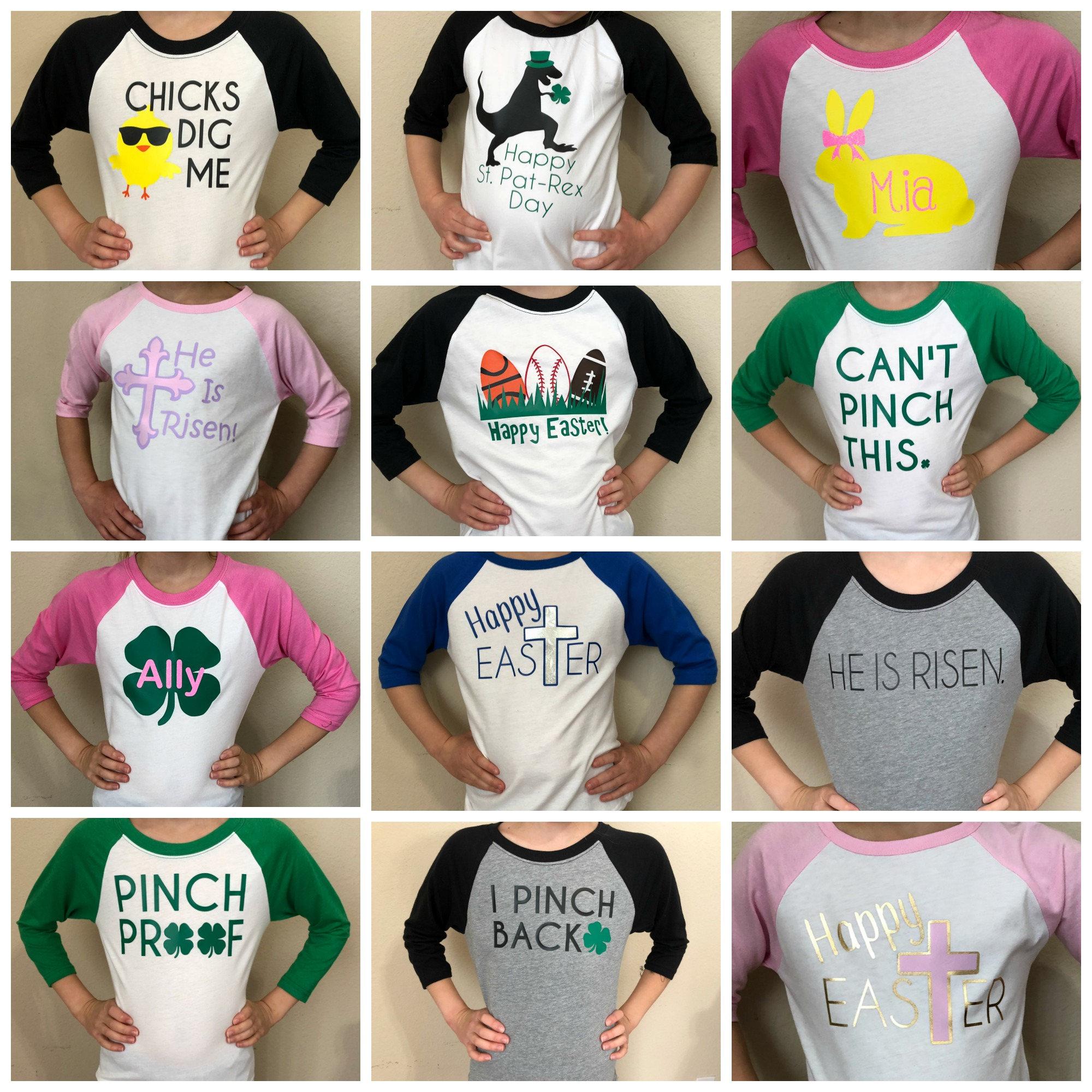 1e3e22b6 Kid's St Patrick's Day shirt- Girls St Pattys Day shirt- Boys St. Patricks  Day shirt - St Patty's Day childrens shirt- I Pinch Back