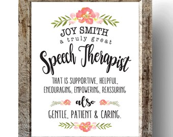 Speech Therapists Appreciation Gifts SLP Clinic Foyer Room ...