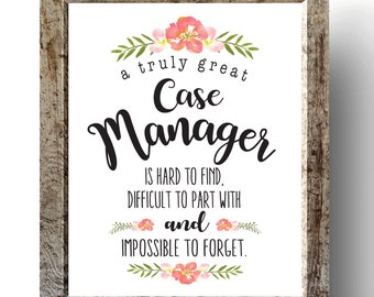case manager gift social worker gift a truly great case etsy