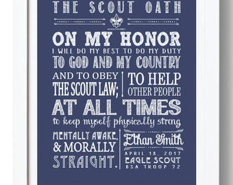 image about Boy Scout Law Printable called Boy scout oath print Etsy