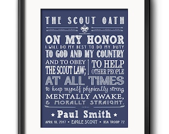 image about Boy Scout Oath Printable named Boy scout oath Etsy