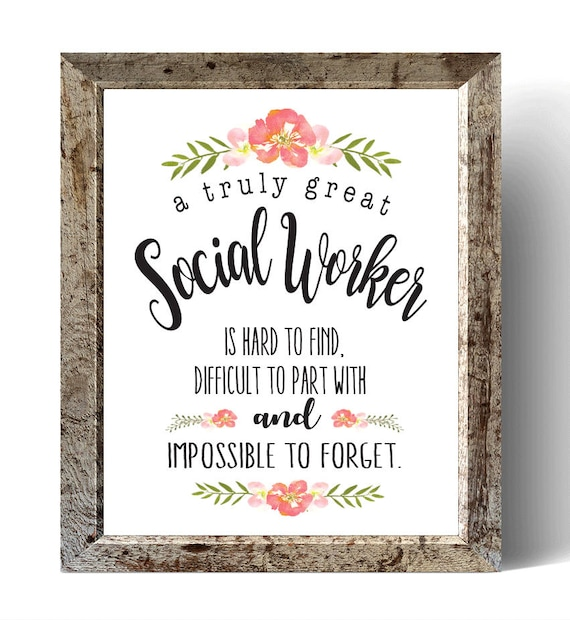 Social Worker Gift A Truly Great Social Worker Art Print | Etsy