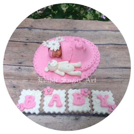 Baby Dusche Kuchen Prinzessin Baby Fondant Kuchen Topper Etsy