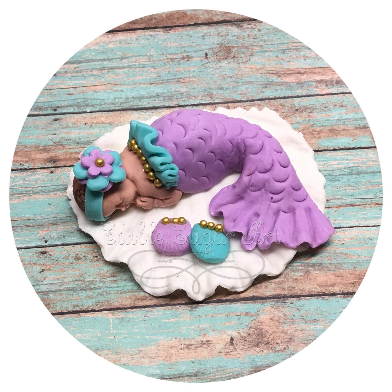 MERMAID BABY SHOWER Cake ToppeR Under The Sea Baby Shower