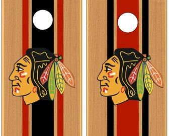 Black Hawks Cornhole Game