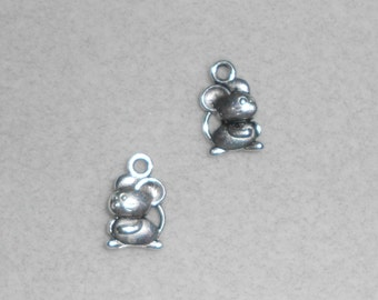 Silver Mouse Charms