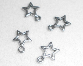 Silver Celestial  Star Charms