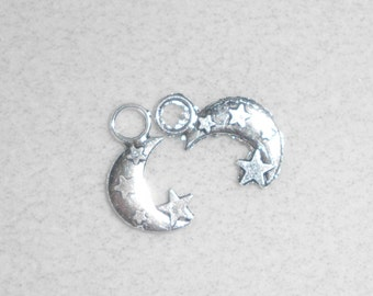 Silver Celestial Moon Charms