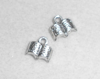 Silver Book Charms