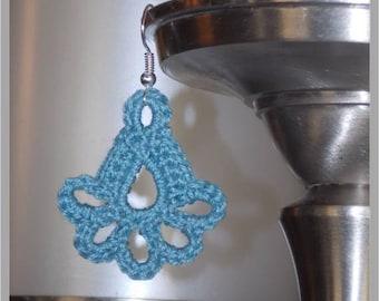 Scalloped Teardrop Earring/Charm Crochet Pattern ... Instant Download