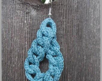 Interlocked Loop Earring Crochet Pattern ... Instant Download